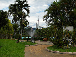 Central KL seen from Flower Garden