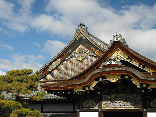 decorated roofs - Nijo Castle
