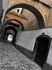 in lanes of the Old Town
