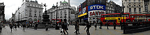 panorama of Piccadilly Circus