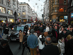 World has gone crazy - Oxford Street Xmas frenzy