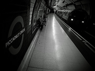 London tube black and white