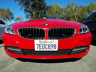 Red BMW Z4 in Beverly Hills... yay