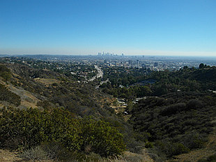 view of L.A. from Mulholland Drive