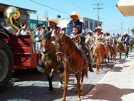 horses march in Tlachichuca