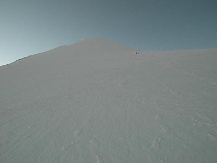 still a long walk over glacier Glaciar de Jamapa to the top