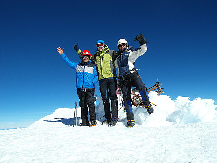 with Mexicans on the summit