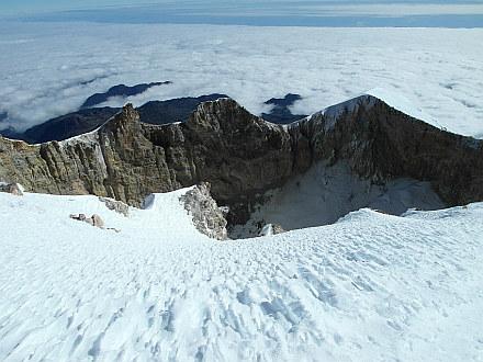 Orizaba crater, well over 400 meters in diameter