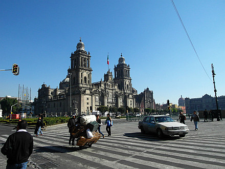 finally in Mexico City, Metropolitan Cathedral on Zócalo