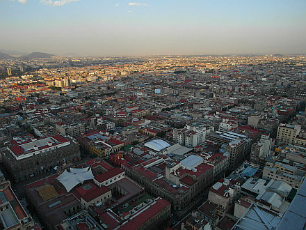 Mexico City, 24 million people, welcome (view from Torre Latinoamericana)