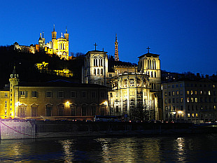 Old Lyon with Notre Dame Cathedral sitting above