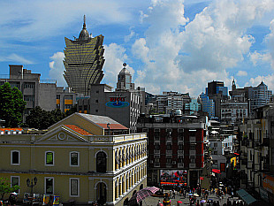 view over central part of Macau