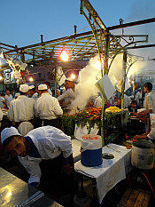 cooks in action on Jemaa El Fna