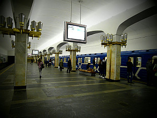 subway in Minsk - Puskinskaya Station