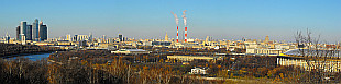 panorama of Moscow from Vorobievy Gory