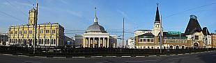 Leningradsky vokzal, metro station Komsomolskaya and Yaroslavsky vokzal