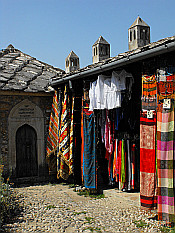selling clothes in Mostar Old Town (Stari Grad)