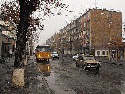 main street in Echmiadzin