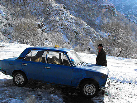 my taxi from Garni to Geghard