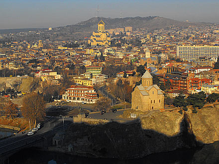 Tbilisi seen from Narikala Fortress
