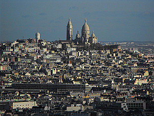 Sacre Coeur zoomed from Eiffel Tower