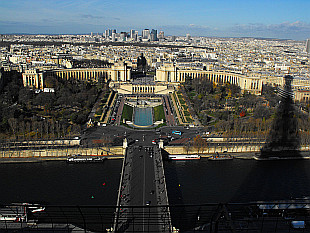 view towards Trocadero and La Defense