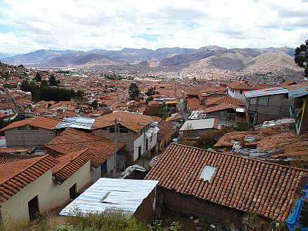 the roofs of Cuzco