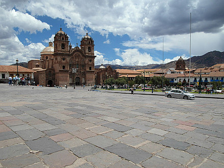 one of the churches on the main square - Plaza de Armas