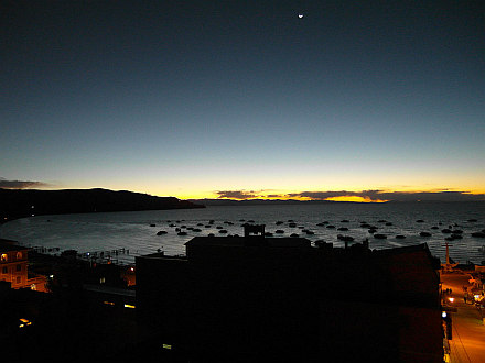 Copacabana, sunset above Lake Titicaca