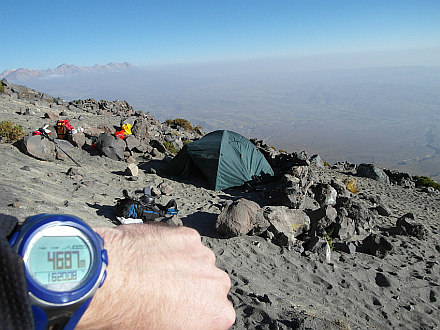 High Camp on El Misti at almost 4700m