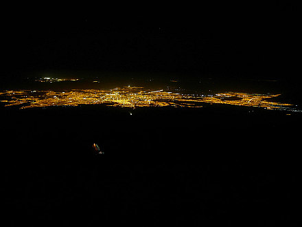 wake up at 1:30AM, enlightened Arequipa beneath