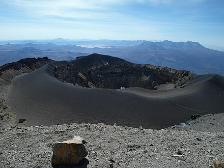crater on the top