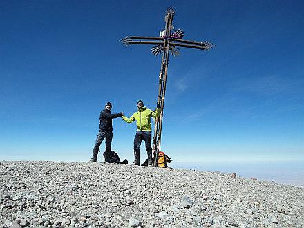 together at the summit of El Misti- 5825m