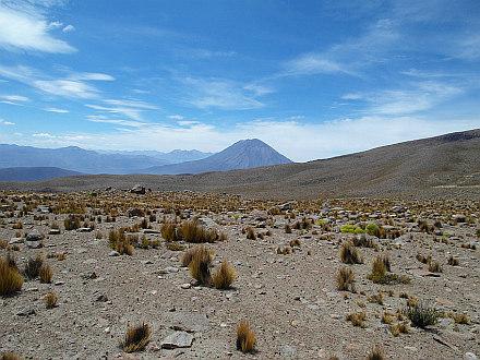 view towards El Misti from 4800m