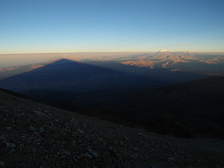view towards northwest, on the right Ampato (6288m), Sabancaya (5976m) and Hualca Hualca (6025m)