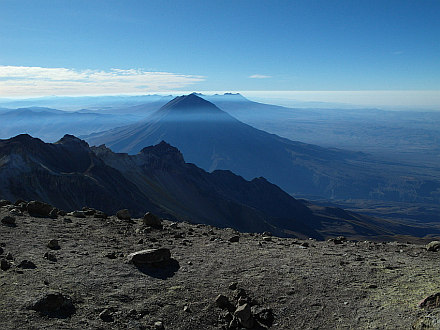 view from the top to El Misti (5825m)