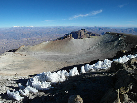 rests of snow at the summit