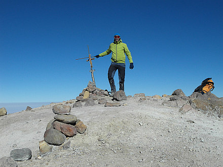 at the summit (6076m)