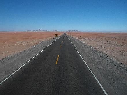 heading south thru the desert to Tacna