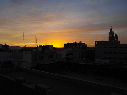 back in Arequipa, last sunset...