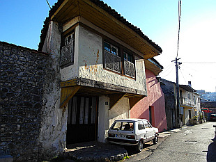 typical turkish house with closed balcony