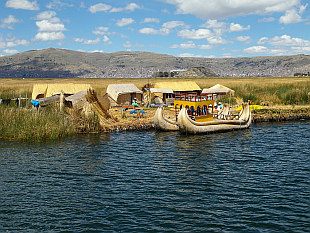 sailing towards Uros Islands