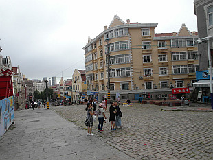 old part of Qingdao with cobblestone streets