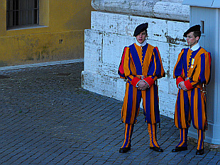 guard in Vatican
