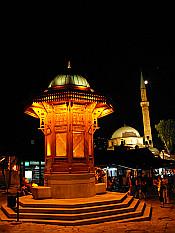 Sebilj fountain and Cekrekci Mosque