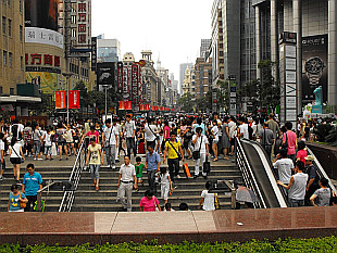 peoplepacked Nanjing Road (Nanjing Lu)
