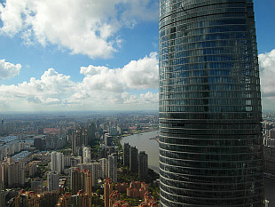 Good morning, Shanghai, from my room at 85th floor of Jin Mao Tower