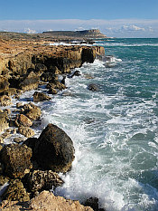 rocky coast near Cape Greco