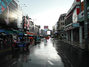 rainy morning in Hat Yai