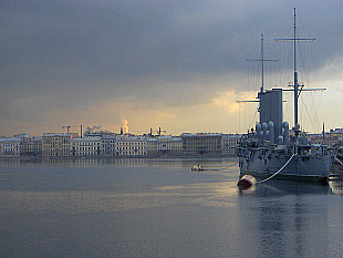 the River Neva and Aurora Cruiser